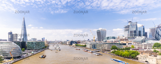 London downtown with River Thames