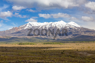 Mount Ruapehu volcano in New Zealand