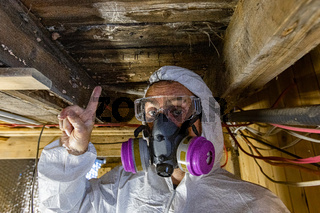 Indoor damp and air quality or IAQ testing.
