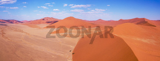 aerial landscape Hidden Vlei in Namibia Africa