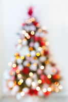 Abstract christmas tree formed by blurred lights