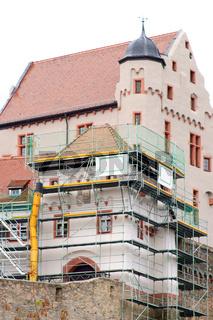 Bauarbeiten Burg Alzenau