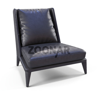Low modern leather chair
