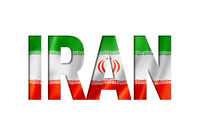 iranian flag text font
