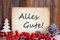 Christmas Decoration, Paper With Text Alles Gute Means Best Wishes