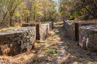 Remains of the locks on the Patowmack Canal built by George Washington