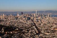 San Francisco am Abend vom Twin Peaks Aussichtspunkt