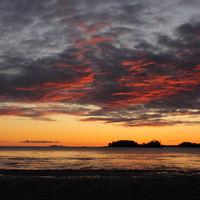 Sunrise at Lake Vanern. Largest lake of Sweden.