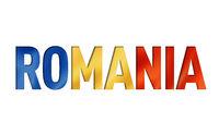 romanian flag text font