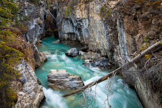 Marble Canyon in Kootenay National Park, British Columbia