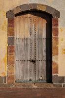 old wooden gate, vintage wood door entry -