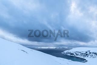 stuermisches Wetter,  Barentssee, Soeroeya, Finnmark
