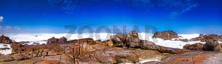 Küstenabschnitt Tsaarsbank im West Coast Nationalpark, Südafrika, coastline Tsaarsbank at West Coast National Park, South Africa