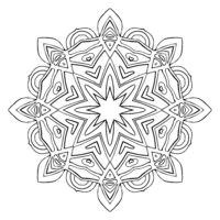 Flower Mandala. Vintage decorative elements.