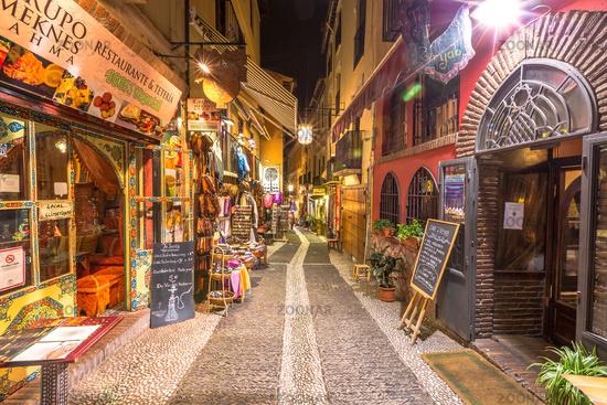 Albaicin Granada by night