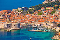 Town of Dubrovnik UNESCO world heritage site harbor view