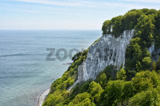 Aussicht vom Koenigsstuhl auf der Insel Ruegen