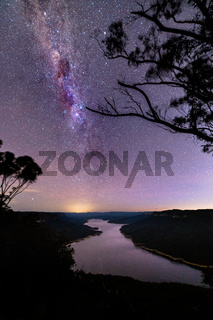 Milky Way Over Burragorang Lake