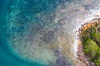 Rocky coastal reef patterns scenic view