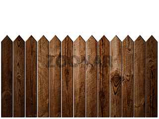 Wooden Fence over White