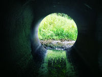 Drainage pipe under the highway