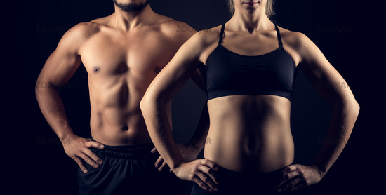 Perfectly shaped female and male upper bodies.