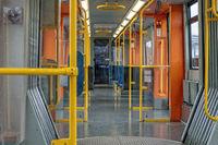 Fahrgastraum einer U-Bahn