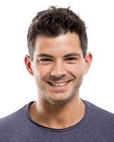 handsome man smiling
