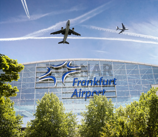 Terminal am Flughafen Frankfurt