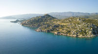 Drone View Kalekoy Castle Coast Turkey