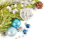 New Year Christmas composition card background