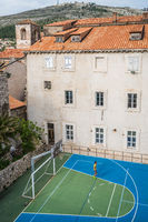 Basketball court in Dubrovnik Old Town