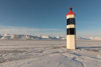Kapp Ekholm Lighthouse in Billefjorden, Spitsbergen in Norway