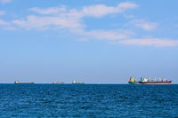 Cargo Ships in the Sea
