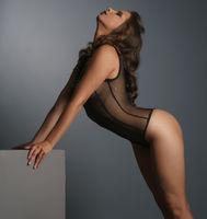 Advertising underwear. Sensual woman in bodysuit