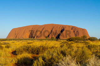 in the Australian outback is the landmark of Australia, the ayers rock called Uluru