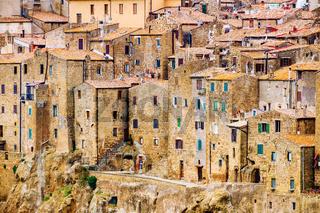 Pitigliano city Tuscany Italy