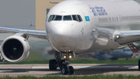 Air Astana Boeing 767 taxiing