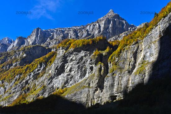 Gipfel Pointe de Bellegarde, Sixt-Fer-a-Cheval, Giffre Tal, Haute-Savoie, Frankreich