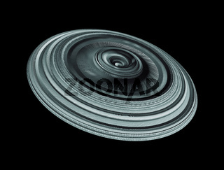 Sci-Fi Industrial Element Isolated On Black Background, Futuristic Concept Design
