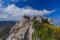 Top of Saint Hilarion Castle in Kyrenia region - Northern Cyprus