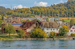 Landwirtschaftliche Gebäude Flurlingen, Kanton Zürich, Schweiz