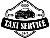 Taxi service emblem template. Design element for logo