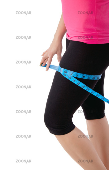 woman with tape measure
