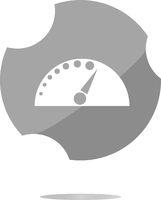automotive tachometer on web button (icon) isolated on white
