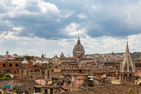 Beautiful aerial view of Rome