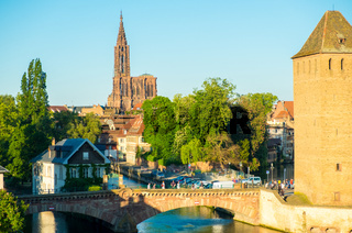 Far Cathedral Ponts Couverts River Strasbourg H