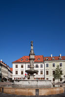 Roland Fountain in Old Town of Bratislava