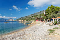The beach Megalos Mourtias of Alonissos, Greece