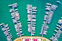 Yachting club and marina aerial view, Novigrad Istarski